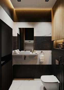 90平米衛生間黑白瓷磚裝修效果圖大全