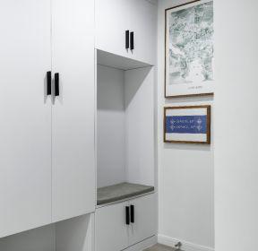 北歐風格樣板間進門鞋柜裝修設計圖-每日推薦