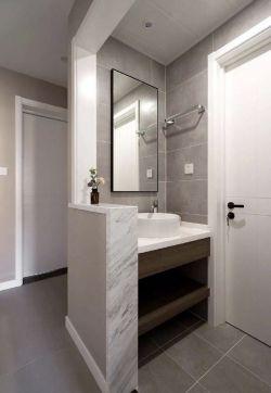 100平米简约风格房屋洗手台装修效果图