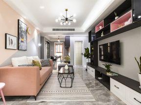 客廳背景墻造型效果圖 時尚客廳裝飾效果圖