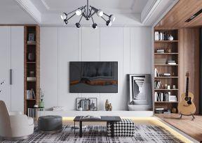 客廳電視墻的設計圖片 客廳電視墻的圖片