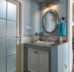 100平米三居室家庭洗手臺裝修效果圖-每日推薦