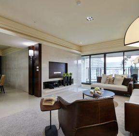 大平层的客厅装修实景图