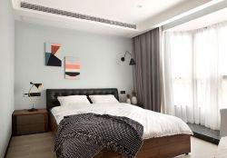 簡約風格房子臥室床頭背景墻裝修效果圖