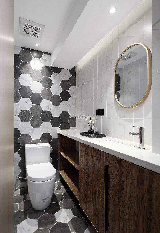 现代风格小卫生间墙砖装修图片