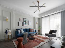 輕奢風格客廳背景墻設計圖片大全2020