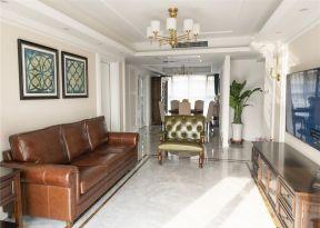 美式客廳裝修實景圖 美式客廳裝修效果圖大全 沙發背景墻造型圖