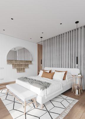 窗簾隔斷圖片 窗簾隔斷效果圖 簡約臥室裝修