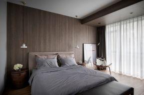 木背景墻圖片 木背景墻效果圖 木背景墻 現代簡約臥室裝潢設計