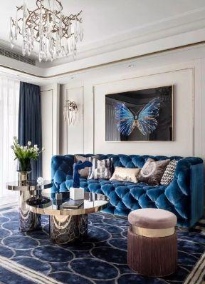 輕奢客廳裝修效果圖  輕奢客廳設計 客廳沙發實景圖