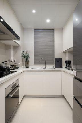 u型廚房裝修效果圖 現代廚房裝飾圖 現代廚房裝飾