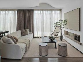 禪意客廳裝修風格 客廳布藝沙發圖片