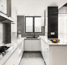 150平米現代風格U型廚房裝修效果圖-每日推薦