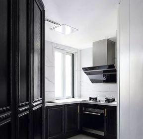 130平米歐式廚房黑色櫥柜裝修效果圖-每日推薦