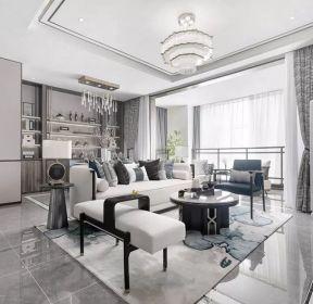 130平米現代中式客廳水晶燈裝修效果圖-每日推薦