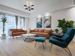 家庭客廳真皮沙發裝修設計圖片2020