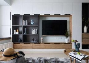 電視墻柜子效果圖 電視墻柜效果圖