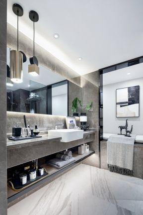 主卧卫生间装修图片 主卧卫生间设计 卫生间洗手台装修效果图