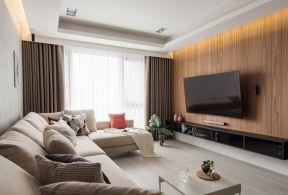 實木電視墻裝修效果圖 客廳電視墻圖片大全