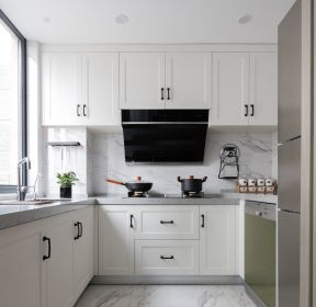 140平方歐式廚房吊柜裝修效果圖片-每日推薦