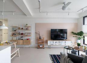 客廳電視墻裝修圖 客廳電視墻裝修設計圖 混搭風格室內裝修
