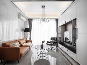 電視墻組合柜簡約現代 現代客廳裝修設計 現代客廳裝修圖片