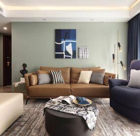 80平米新房客廳沙發背景墻裝修效果圖-每日推薦