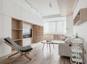 电视墙组合柜图片  电视墙组合柜简约现代 简约客厅装潢设计效果图