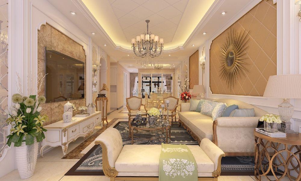 147平米欧式风格客厅装修效果图