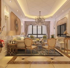 147平米欧式风格客厅ballbet贝博网站效果图-每日推荐
