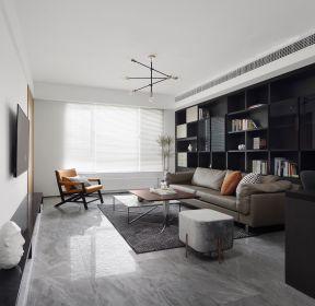 现代风格141平米三室两厅客厅家装效果图-每日推荐