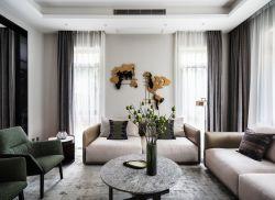 2020上海別墅客廳沙發裝修布置圖片