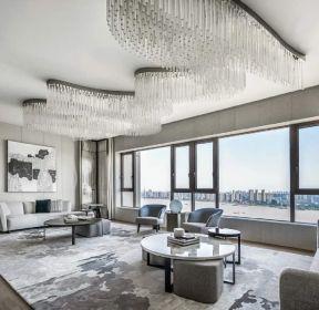 现代约风格161平四室客厅样板间-每日推荐
