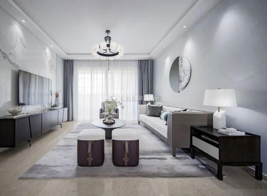 三室二厅样板房客厅装修效果图欣赏