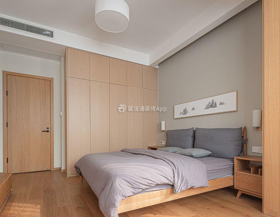 日式风格卧室整体衣柜装修效果图