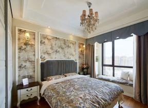 美式臥室壁紙圖片 美式臥室裝修效果圖片 美式臥室裝修效果圖大全2020圖片