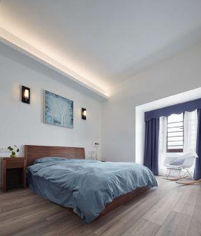 臥室木地板裝修效果圖 臥室木地板圖片 臥室床頭設計