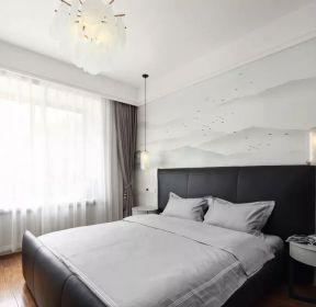 現代中式風格主臥室裝修效果圖片-每日推薦