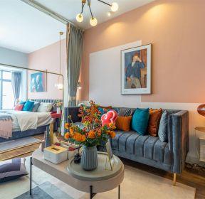 轻奢风格一室一厅背景墙装修效果图-每日推荐