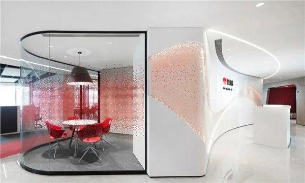 无锡办公室装修公司-玻璃墙效果图