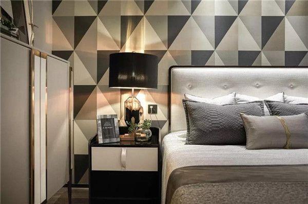 无锡境素装饰-卧室床头效果图