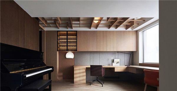 260平米四居室设计书房效果图