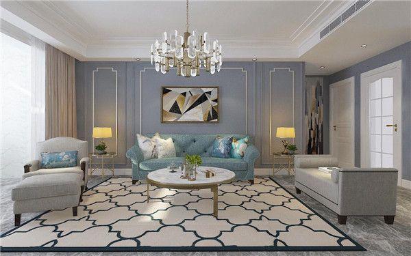 轻奢风格房子装修客厅图片