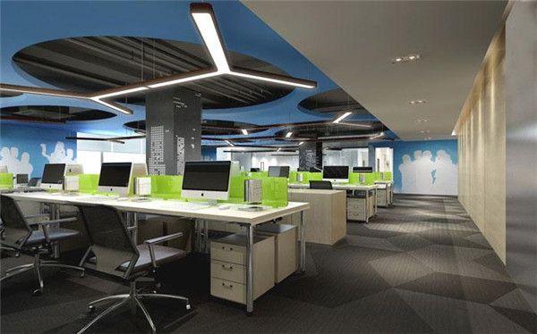无锡办公室装修工作区效果图