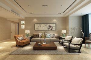 华夏泉绅120平米新中式风格三居室装修案例