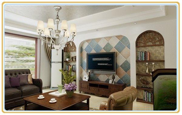 花园洋房美式风格客厅效果图