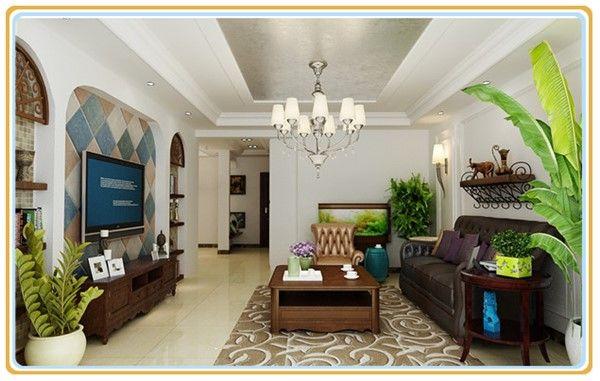 花园洋房美式风格设计效果图