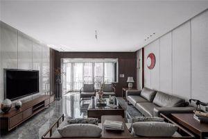 首府花园130平米新中式风格三居室装修案例