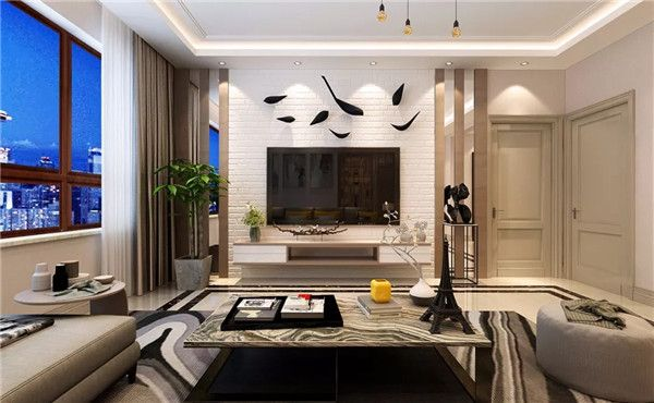 新房装修客厅电视墙设计图
