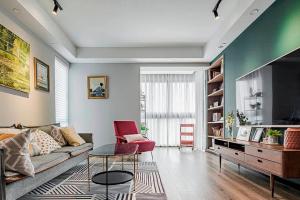 保利融侨时光印象120平米现代简约风格三居室装修案例